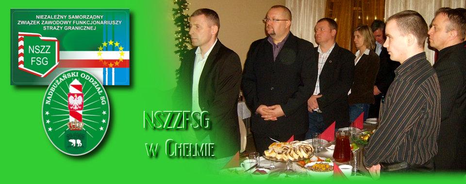 Związkowa Wigilia z Komendantem NOSG w Chełmie