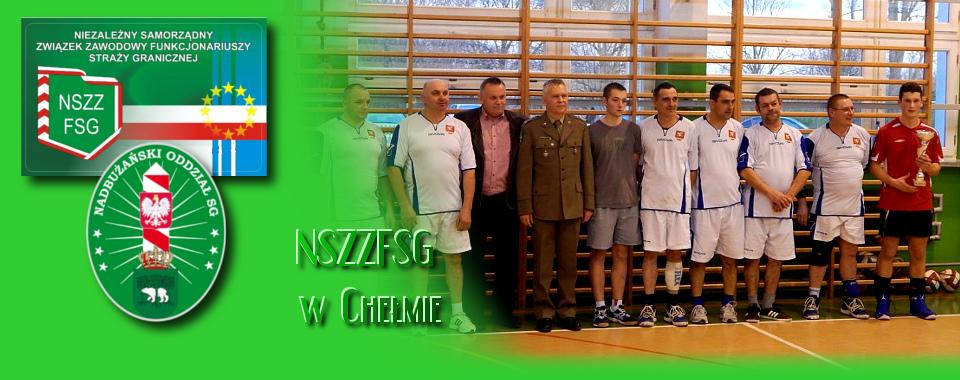 Turniej siatkówki o Puchar Komendanta PSG w Dołhobyczowie.