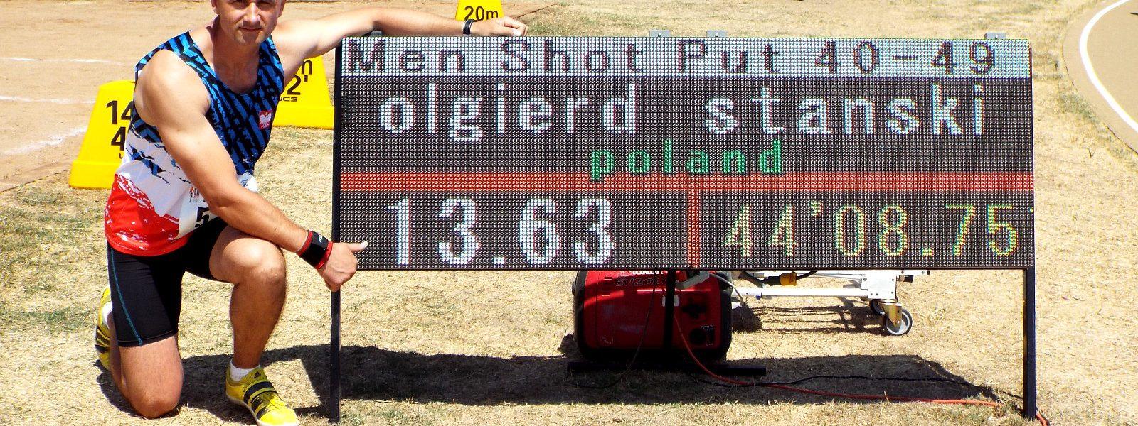 Olgierd Stański zdobył dwa złote medale podczas Światowych Igrzysk Służb Policyjnych i Straży Pożarnych w Los Angeles.