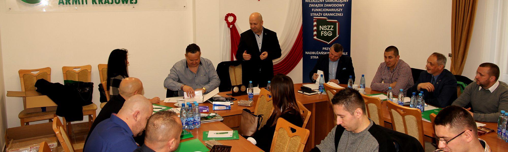 Spotkanie opłatkowe Zarządu Oddziałowego w Komendzie NOSG w Chełmie