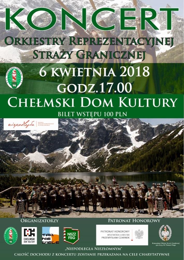Koncert Charytatywny w wykonaniu Orkiestry Reprezentacyjnej Straży Granicznej