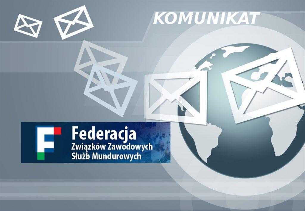 Komunikat Federacji ZZSM po spotkaniu w MSWiA – projekt porozumienia w zakresie realizacji postulatów