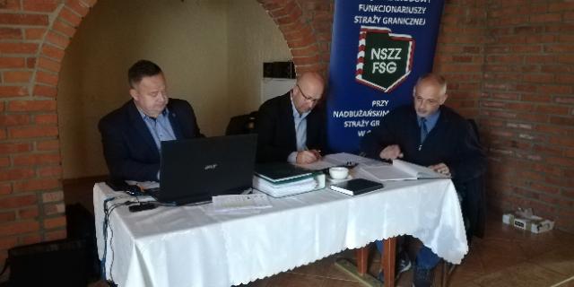 Posiedzenie Zarządu Oddziałowego NSZZ FSG przy Nadbużańskim OSG w Chełmie