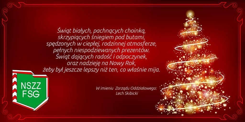 Z okazji zbliżających się świąt oraz Nowego Roku